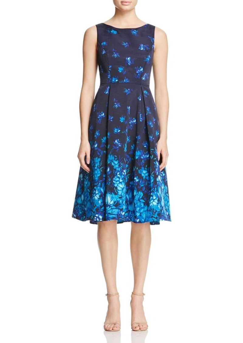 Adrianna Papell Printed Fit And Flare Dress