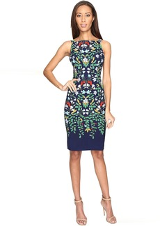 Adrianna Papell Printed Nouveau Blooms Sheath Dress