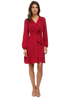 Adrianna Papell Printed Wrap Dress