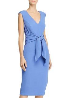 Adrianna Papell Rio Knit Tie-Front Sheath Dress