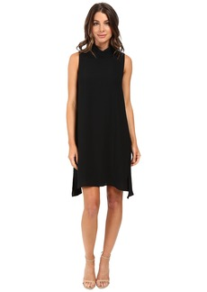 Adrianna Papell Roll Neck Gauzy Crepe Dress