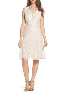 Adrianna Papell Rose Lace Fit & Flare Dress