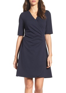 Adrianna Papell Ruched A-Line Dress