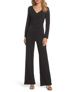 Adrianna Papell Ruched Jumpsuit