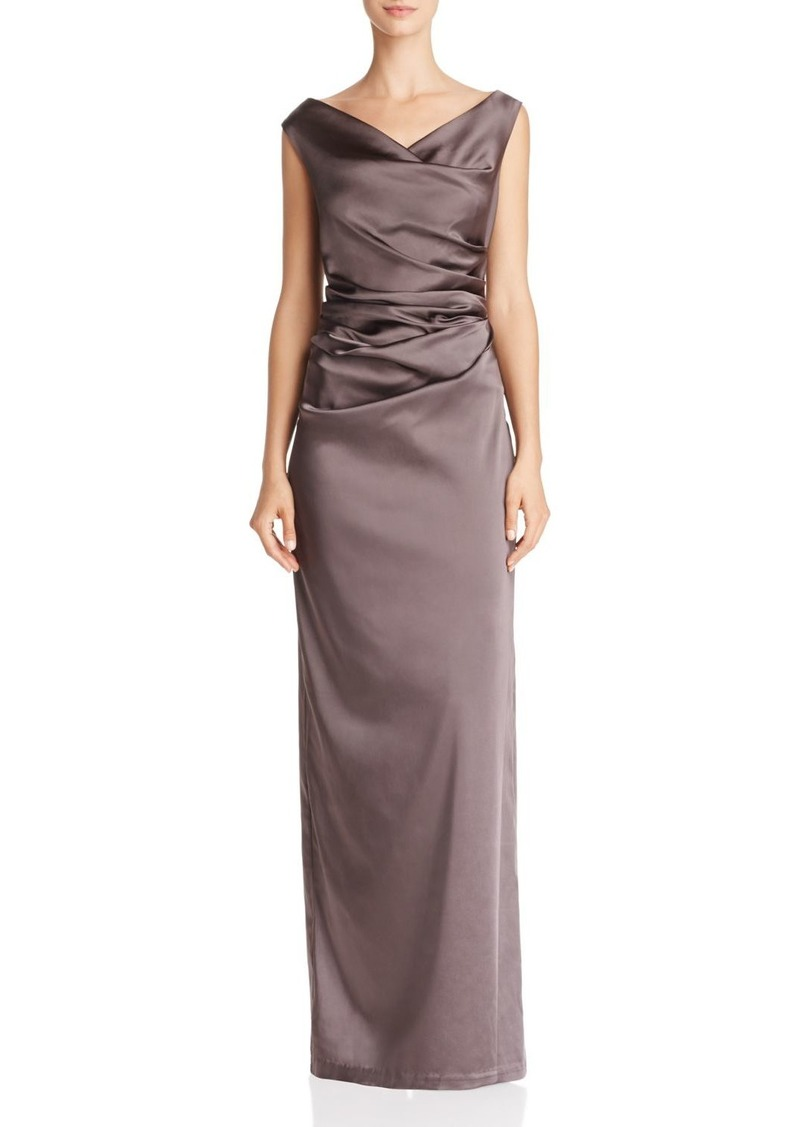 Adrianna Papell Adrianna Papell Ruched Satin Column Gown | Dresses