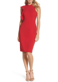Adrianna Papell Ruffle Crepe Halter Dress