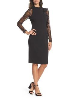Adrianna Papell Ruffle Lace Sheath Dress