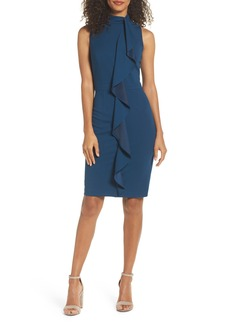 Adrianna Papell Ruffle Sheath Dress (Regular & Petite)