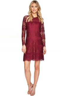 Adrianna Papell Scalloped Lace Trapeze Dress