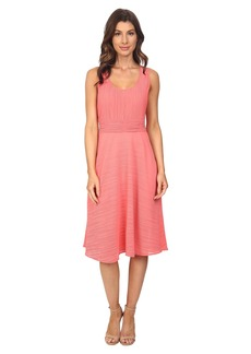 Adrianna Papell Scoop Neck Handkerchief Dress