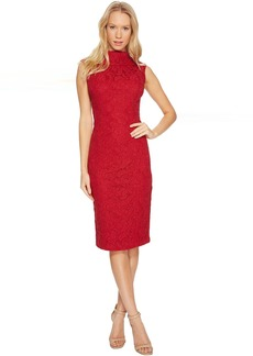 Adrianna Papell Scroll Lace Sheath Dress