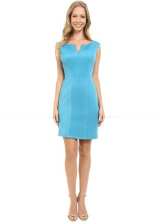 Adrianna Papell Scuba Knit Sheath Dress