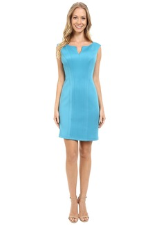 Adrianna Papell Scuba Knit Sheath Dress