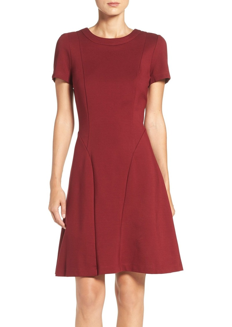 Adrianna Papell Seamed Ponte Fit & Flare Dress (Regular & Petite)