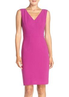 Adrianna Papell Seamed Woven Sheath Dress (Regular & Petite)