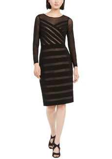 Adrianna Papell Semi-Sheer Mesh Dress