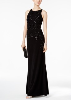 Adrianna Papell Sequin A-Line Gown