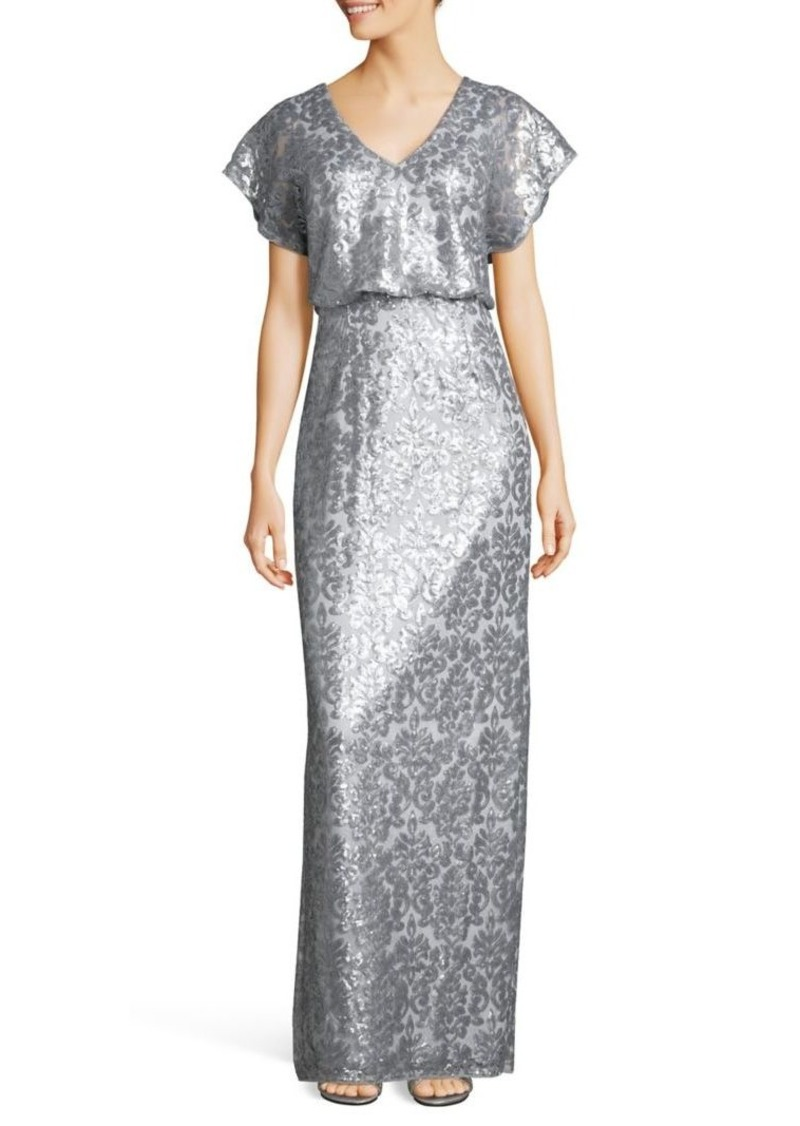 Adrianna Papell Adrianna Papell Sequin Blouson Gown   Dresses