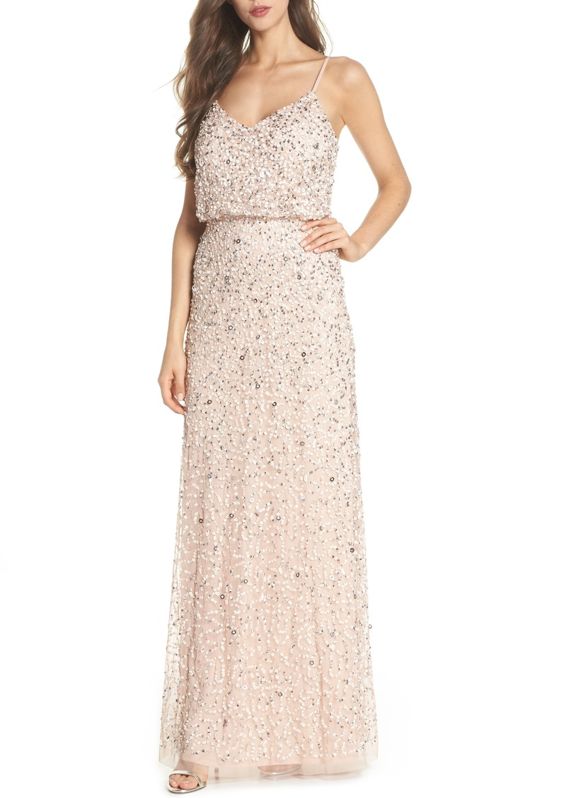 Adrianna Papell Adrianna Papell Sequin Blouson Gown | Dresses