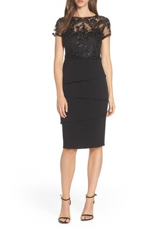 Adrianna Papell Sequin Cocktail Sheath (Regular & Petite)