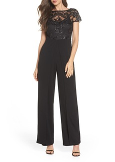Adrianna Papell Sequin Crepe Jumpsuit