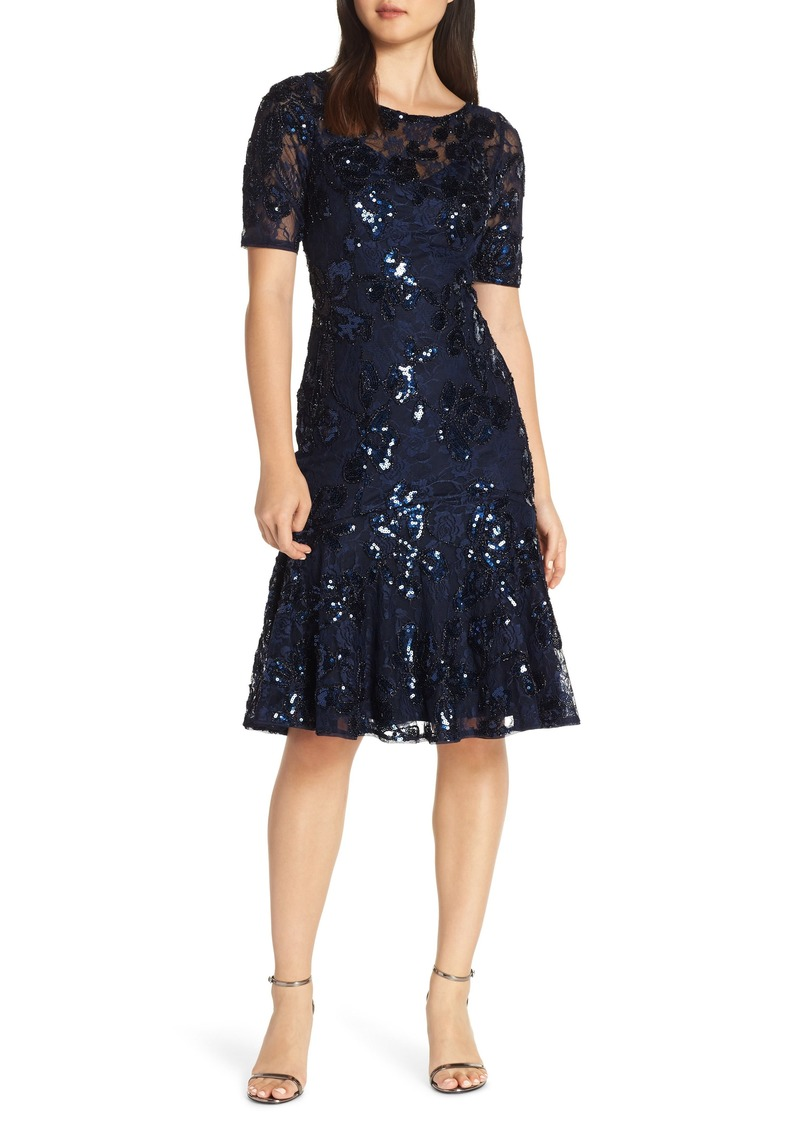 Adrianna Papell Sequin Embellished Dress