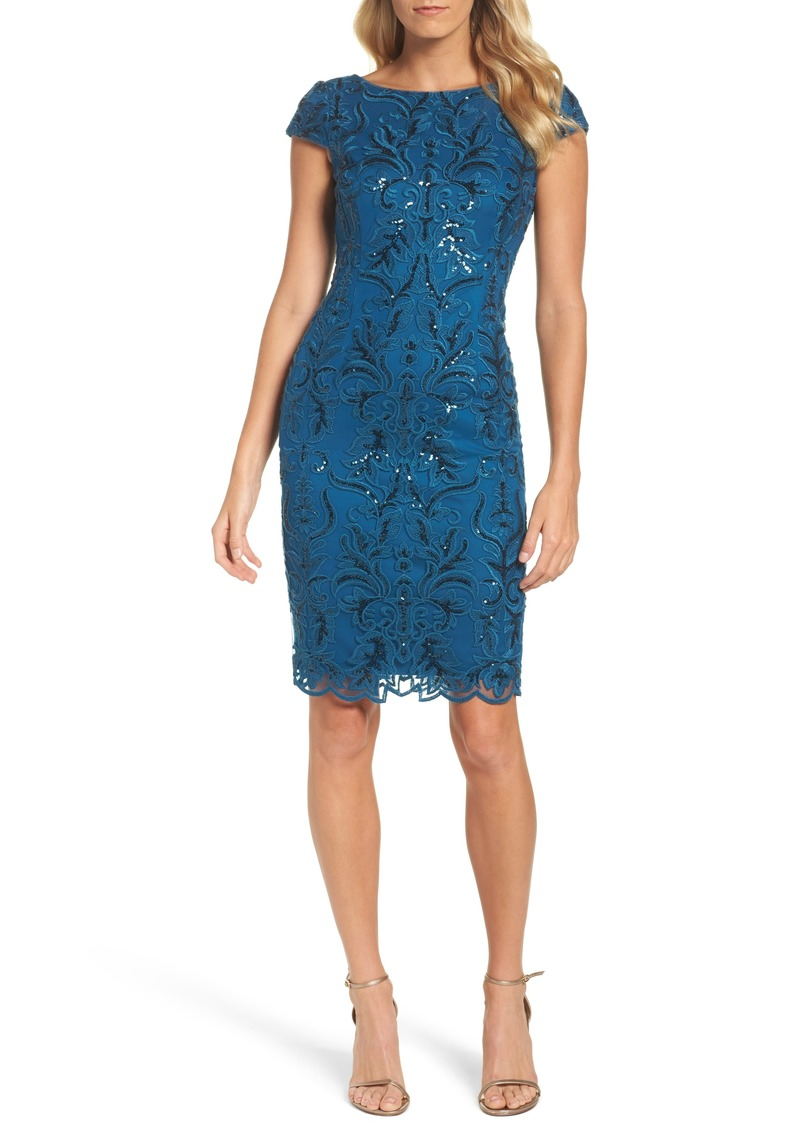 a34917b6 Adrianna Papell Adrianna Papell Sequin Embroidered Sheath Dress ...