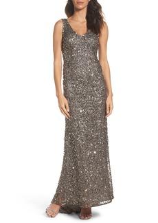 Adrianna Papell Sequin Gown (Regular & Petite)