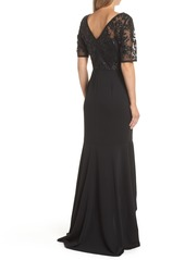 Adrianna Papell Sequin High/Low Gown (Regular & Petite)