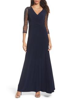 Adrianna Papell Sequin Jersey Gown (Regular & Petite)