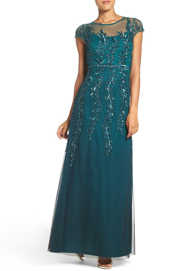 Adrianna Papell Adrianna Papell Sequin Mesh Fit & Flare Gown | Dresses