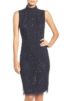 Adrianna Papell Sequin Mesh Sheath Dress