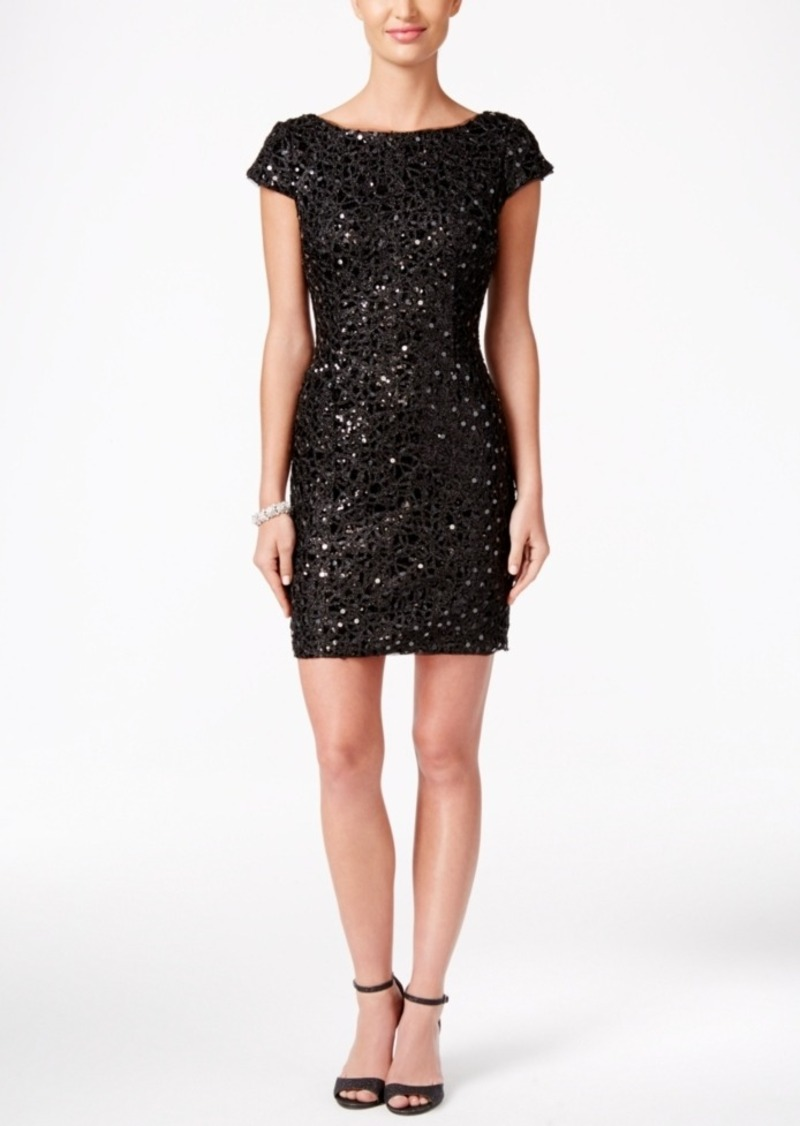 11965ea9200d On Sale today! Adrianna Papell Adrianna Papell Sequined Lace Sheath ...