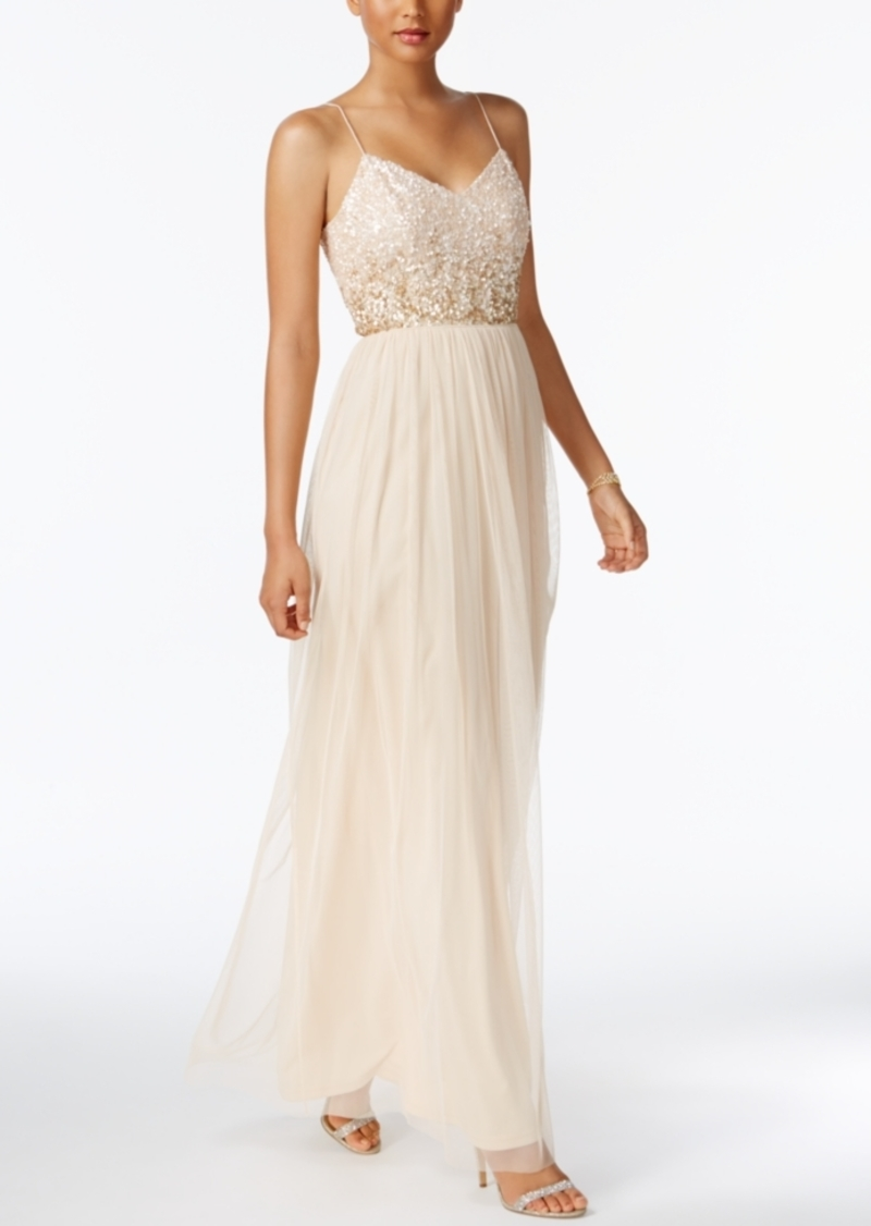 1d442bdc5068 Adrianna Papell Adrianna Papell Sequined Tulle Gown Now $148.99