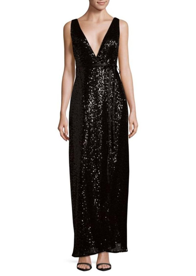 Aidan Mattox Sequined Wrap Dress