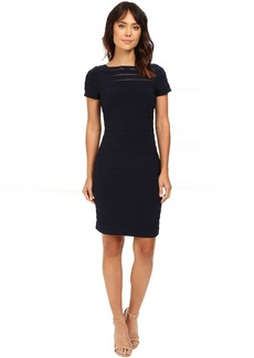 Short Sleeve Banded Dress w/ Back Detail