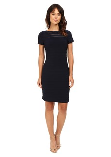 Adrianna Papell Short Sleeve Banded Dress w/ Back Detail