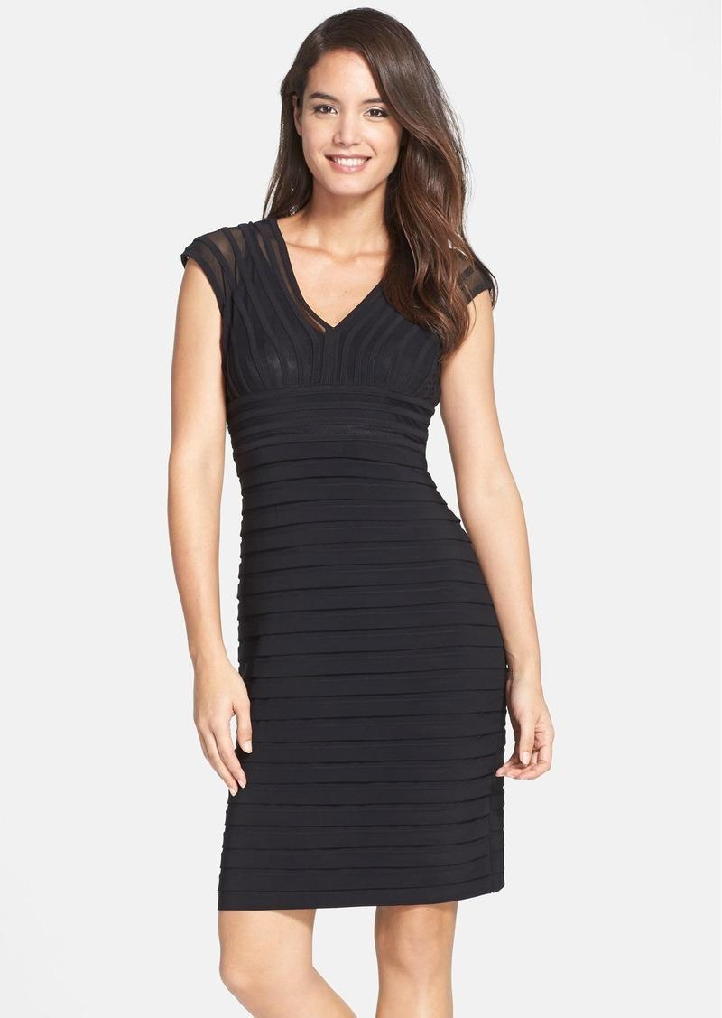 Adrianna Papell Shutter Pleat Jersey Sheath Dress (Regular & Petite) (Nordstrom Exclusive)