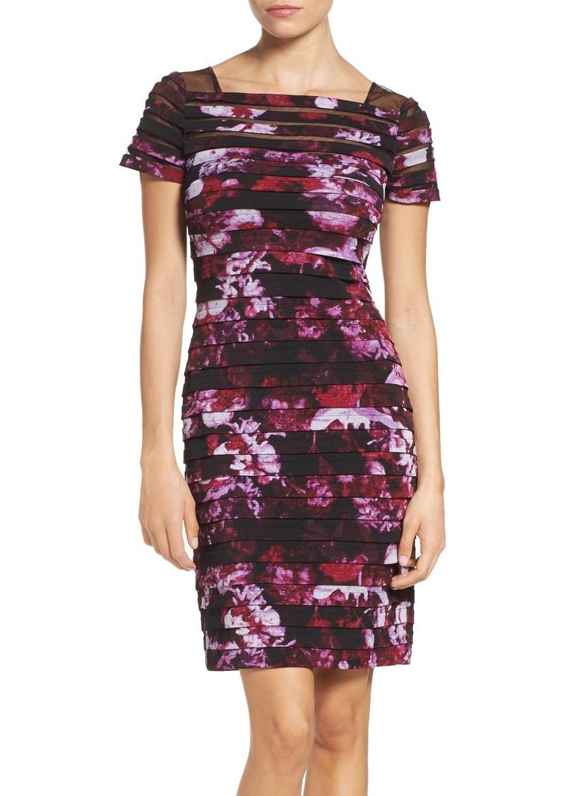 Adrianna Papell Shutter Pleat Sheath Dress