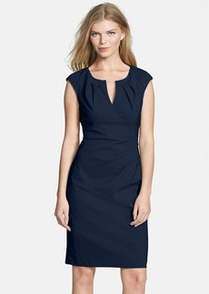 Adrianna Papell Side Pleat Sheath Dress (Regular & Petite)