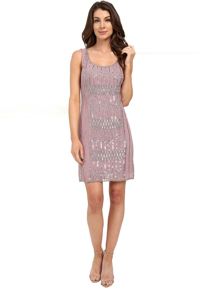 Adrianna Papell Adrianna Papell Sleeveless Beaded Cocktail Dress
