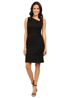 Adrianna Papell Sleeveless Bodycon Lace Blocked Dress