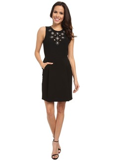 Adrianna Papell Sleeveless Dress w/ Embellishment