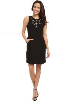 Sleeveless Dress w/ Embellishment