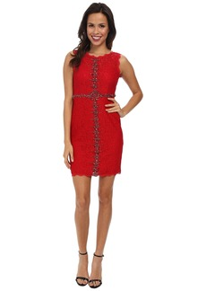 Adrianna Papell Sleeveless Embellished Lace