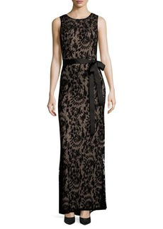 Adrianna Papell Sleeveless Lace Mermaid Gown