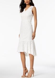 Adrianna Papell Sleeveless Lace Midi Dress