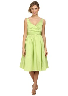 Adrianna Papell Sleeveless Mid Length Taffeta Party Dress