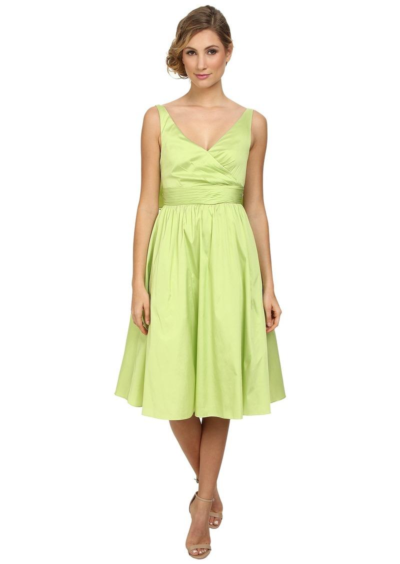 Adrianna Papell Sleeveless Mid Length Taffeta Party Dress