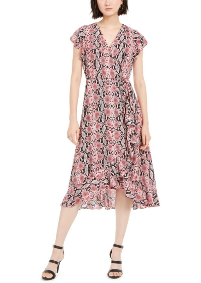 Adrianna Papell Snakeskin-Print Dress